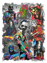 ghost glow mask corey taylor art etsy