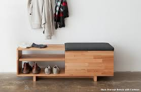 shoe storage bench with cushion treenovation