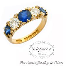 antique rings sapphire images Antique late victorian sapphire diamond bridge ring klepner 39 s jpg