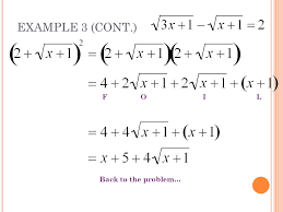 6 5 solving square root equations real world example ppt download