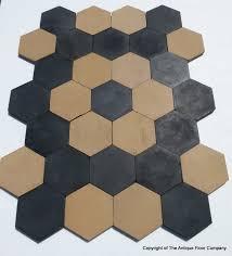 15m2 160 sq ft of antique ceramic black and hexagon tiles