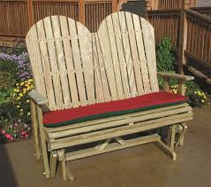 pine wood adirondack glider by dutchcrafters amish furniture