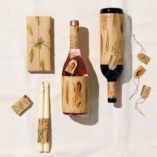 wine bottle gift wrap harvest gift wrap for small boxes and wine bottles martha stewart