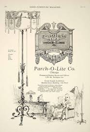 household tagged 1921 ad vintage parchment lampshade lamp parch o lite company home decor gf5