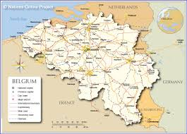 Map Of Southwest Asia And North Africa by Political Map Of Belgium Nations Online Project