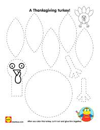 construct a thanksgiving turkey with our free printable