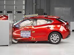 mazda 3 hatchback 2014 mazda 3 hatchback driver side small overlap iihs crash test