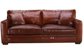 Sleeper Sofas Houston Savvy Houston Leather Sleeper Sofa With Blend Cushions