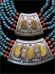 tibetan silver ethnic necklace images Antique tibetan tribal amber and turquoise necklace JPG