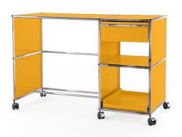 Schreibtisch Gebraucht Usm Haller Schreibtisch Auf Rollen Typ 2 Goldgelb Ral 1004 Von