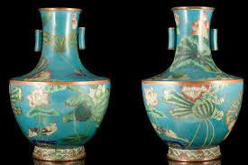 Enamel Vase Antique Chinese Cloisonné Enamels 珍稀中国古董 景泰蓝 拉密东方