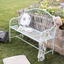 French Style Patio Furniture by Duck Egg Blue French Style Garden Bench