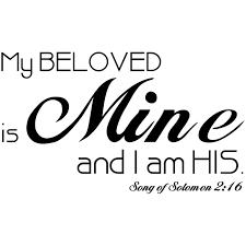 i am my beloved of solomon 2 16 vinyl wall decal my beloved is mine and i am his