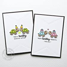 sunny studio turtley awesome birthday card set with emily