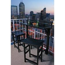 Bar Height Bistro Table Miyu Furniture Balcony Bar Height Bistro Set With Its Space