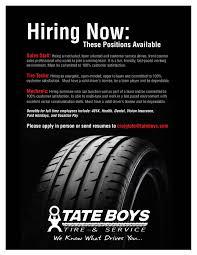 Tire Technician Job Description Resume Bartlesville Ok Tires Shop Jobs Tate Boys Tire U0026 Service