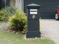 letter box designs aussie stainless brick pier letterbox with