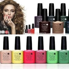 2015 shellac cnd nail polish 7pcs lot uv gel nail kit soak off led
