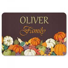 thanksgiving doormat autumn welcome personalized thanksgiving doormat current catalog