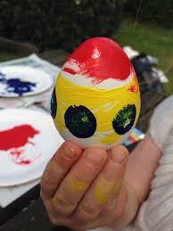 plaster of paris eggs my kid craft