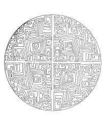 free mandala to color maze mandalas coloring pages for adults