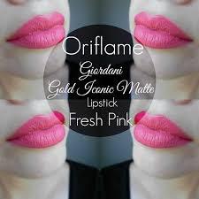 Bedak Za oriflame giordani gold iconic matte lipstick fresh pink matte
