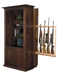 Mission Style Bookcase American Made Bookcase With Hidden Gun Cabinet From Dutchcrafters