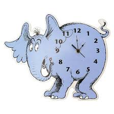 dr seuss horton hears wall clock blue trend lab target