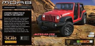 moab jeep wrangler 2013 jeep wrangler moab now available for ordering
