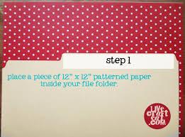 decorative file folders how to line a file folder live craft eat