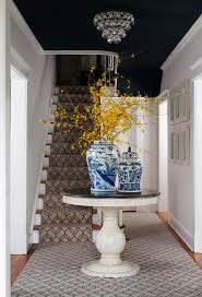 Foyer Stairs Design Foyer Stairs Design Entry Traditional With Pedestal Table Blue And