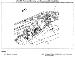 chevrolet trailblazer where is the airbag module located on