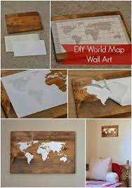 Wall Decor World Map World Map Wall Decor Wall Art Ideas For The