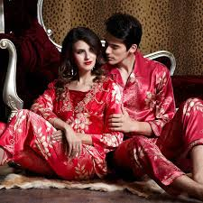 new design 2014 luxury silk pajama sets matching sleepwear for