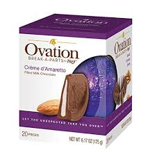 r ovation cuisine ovation chocolate creme d amaretto filled a part gourmet