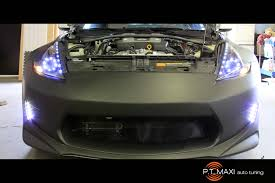 nissan 370z led headlights p t maxi auto tuning powerhouse amuse nissan 370z