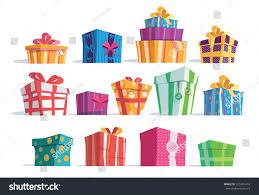 vector set different gift boxesbeautiful present stock vector