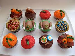 thanksgiving set of cupcakes