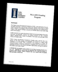 pillars grant program clarke county development corporation