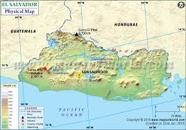 geographical map of guatemala map of el salvador