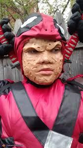 Deadpool Halloween Costume Kid Beneath Mask Deadpool Costume