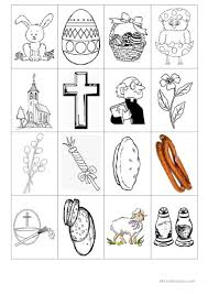 6 free esl easter symbols worksheets