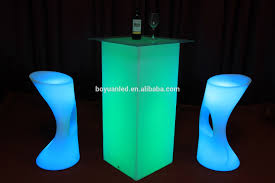 stand up bar table led light stand up bar tables high bar cubic table with led light