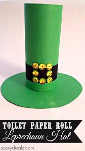 leprechaun hat toilet paper roll craft for st patrick u0027s day