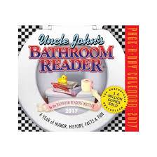 Uncle John Bathroom Reader Uncle John U0027s Bathroom Reader 2017 Calendar Paperback Target