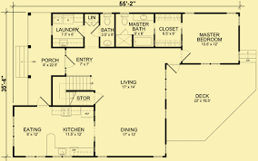 Main Level Floor Plans Cottage Plans For A 3 Bedroom Home With An Open Layout