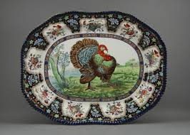 turkey platters thanksgiving 35 flow blue 23 staffordshire spode turkey platter lot 35