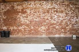 exposed brick exposed brick with white cyc studio space space for arts