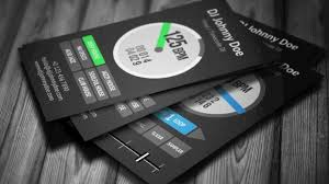 digital vinyl dj business card template for serato djs youtube