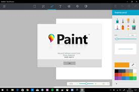 here u0027s a first look at microsoft u0027s new paint app for windows 10